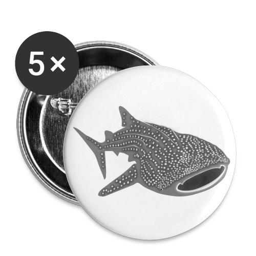 tiershirt walhai wal hai fisch whale shark taucher tauchen diver diving naturschutz endangered species - Buttons groß 56 mm (5er Pack)