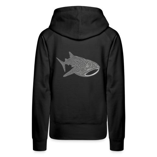tiershirt walhai wal hai fisch whale shark taucher tauchen diver diving naturschutz endangered species - Frauen Premium Hoodie
