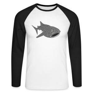 tiershirt walhai wal hai fisch whale shark taucher tauchen diver diving naturschutz endangered species - Männer Baseballshirt langarm