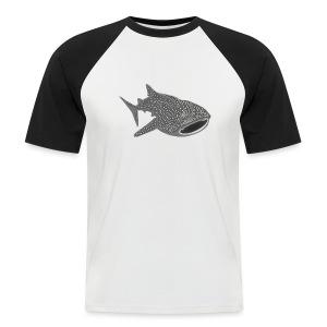 tiershirt walhai wal hai fisch whale shark taucher tauchen diver diving naturschutz endangered species - Männer Baseball-T-Shirt
