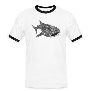 tiershirt walhai wal hai fisch whale shark taucher tauchen diver diving naturschutz endangered species - Männer Kontrast-T-Shirt