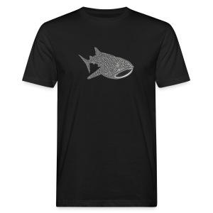tiershirt walhai wal hai fisch whale shark taucher tauchen diver diving naturschutz endangered species - Männer Bio-T-Shirt