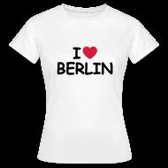 T-Shirts ~ Frauen T-Shirt ~ I love Berlin Retro-T-Shirt
