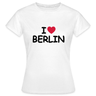 T-Shirts ~ Frauen T-Shirt ~ I love Berlin Retro-T-Shirt