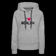 Pullover & Hoodies ~ Frauen Premium Kapuzenpullover ~ I love Berlin