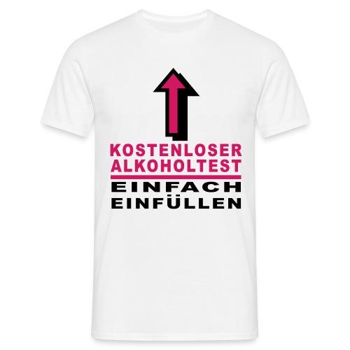 kostenloser Alcoholtest - Männer T-Shirt