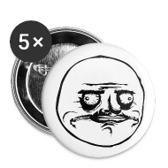 Badges ~ Badge petit 25 mm ~ Badge Me Gusta, rage comics