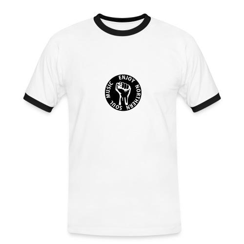 enjoy northern soul music - Männer Kontrast-T-Shirt