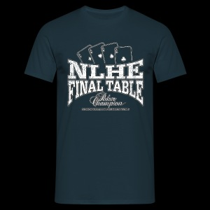NLHE Final Table (white oldstyle) - Camiseta hombre