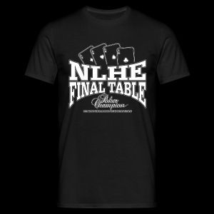 NLHE Final Table (white) - Camiseta hombre