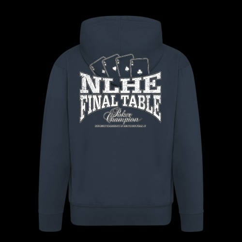 NLHE Final Table (white oldstyle) - Felpa con zip Premium da uomo