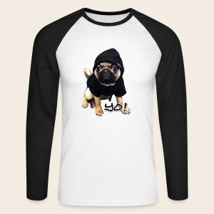Longsleeve Shirt Yo!-Mops - Männer Baseballshirt langarm
