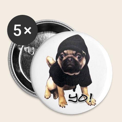 Yo! Mops - Buttons groß 56 mm