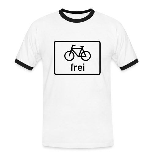 Fahrrad Freiheit - Männer Kontrast-T-Shirt