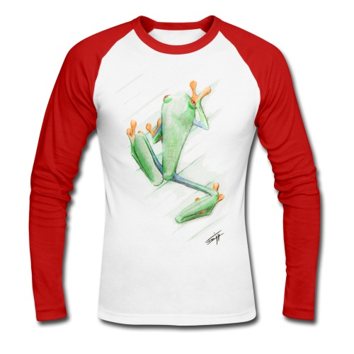 Attention grenouille toxique ! - T-shirt baseball manches longues Homme