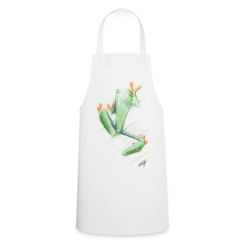 Attention grenouille toxique ! - Tablier de cuisine
