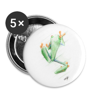 Attention grenouille toxique ! - Badge moyen 32 mm