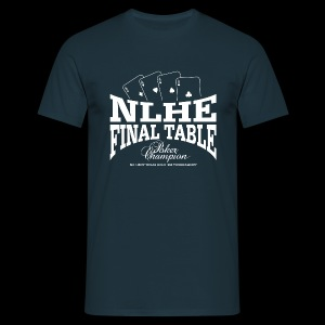 NLHE Final Table (1c white) - Camiseta hombre