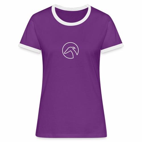 Windhund im Kreis - Frauen Kontrast-T-Shirt