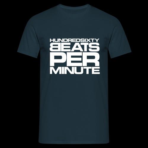 160 BPM - hundredsixty beats per minute (white) - Miesten t-paita