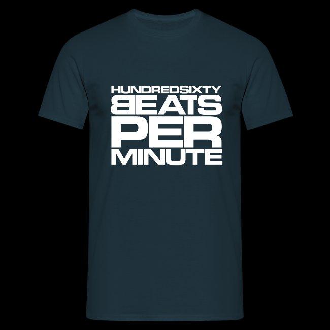 160 BPM - hundredsixty beats per minute (white)