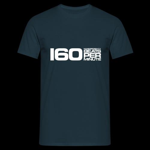 160 BPM (white) - Miesten t-paita