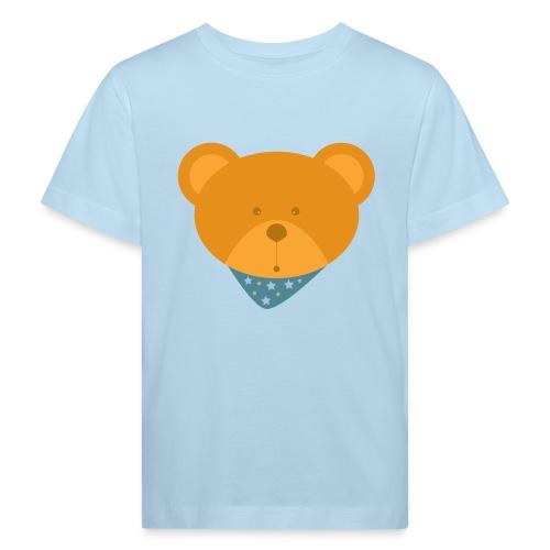 Knuddelbär mit Halstuch blau - Kinder Bio-T-Shirt