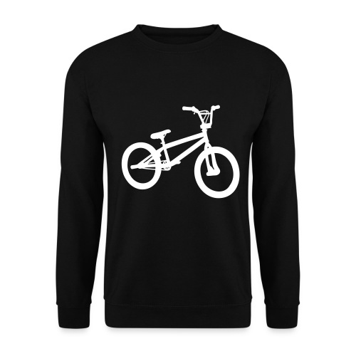 Ride My Style White Bike Men's Sweater - Men's Sweatshirt