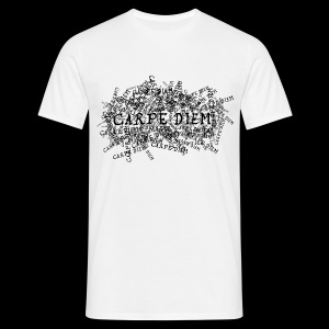 carpe diem (black) - T-shirt herr