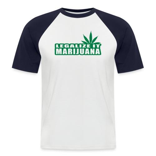 Legalize Marijuana - Kortärmad basebolltröja herr
