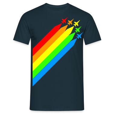 jetfighters - colorful - peace - war - diagonal T-Shirts
