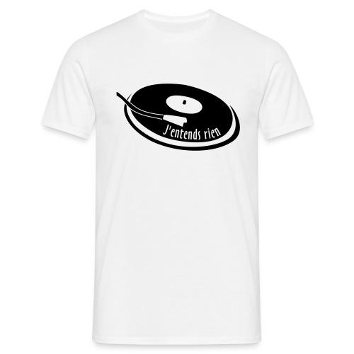 Tee shirt homme - J'entends rien (platine) - T-shirt Homme