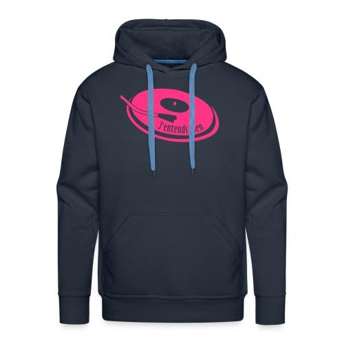 Pull homme - J'entends rien (platine) - Sweat-shirt à capuche Premium pour hommes
