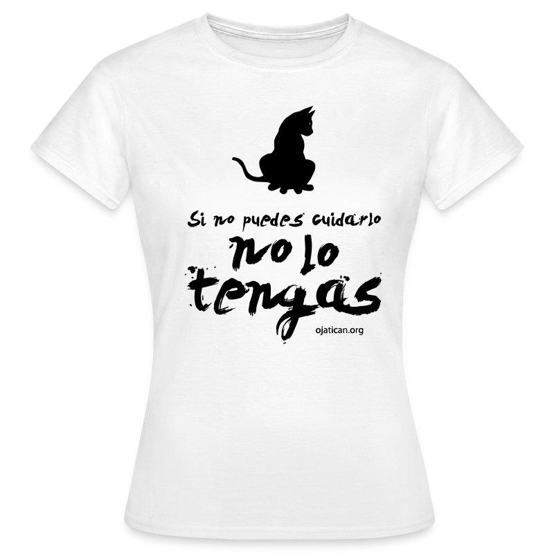 mod. Ojati negro mujer clasica - Camiseta mujer