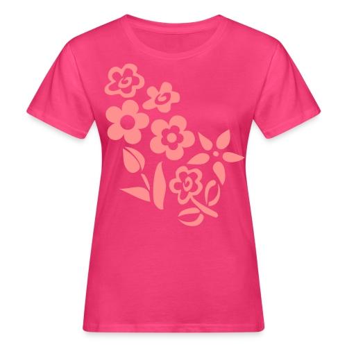 Kesäinen paita (Kukat) - Naisten luonnonmukainen t-paita