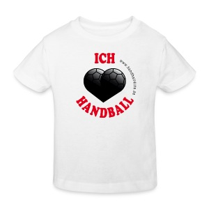 Kindershirt Ich liebe Handball - Kinder Bio-T-Shirt