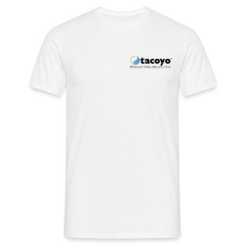 Man T-shirt klassiek - ZWART LOGO - Mannen T-shirt
