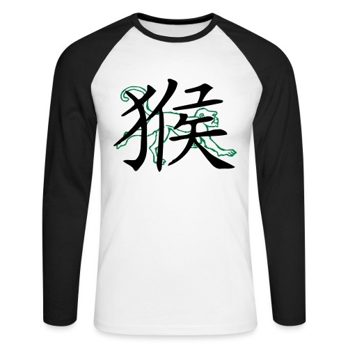 Astrologie Chinoise : le Singe - T-shirt baseball manches longues Homme