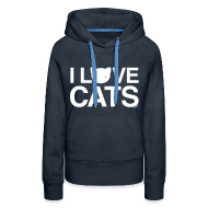 Hoodies & Sweatshirts ~ Women's Premium Hoodie ~ I Love Cats