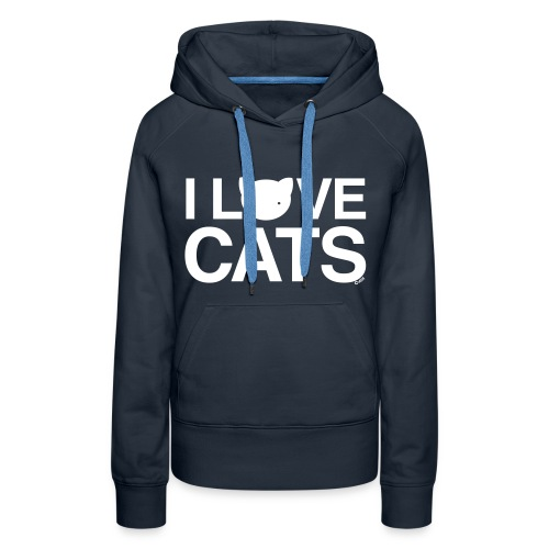 I Love Cats - Women's Premium Hoodie