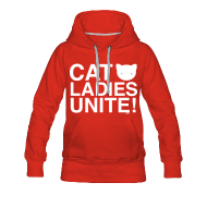 Hoodies & Sweatshirts ~ Women's Premium Hoodie ~ Cat Ladies Unite!
