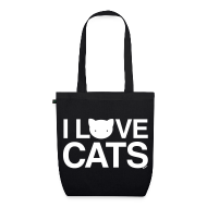 Bags & Backpacks ~ EarthPositive Tote Bag ~ I Love Cats