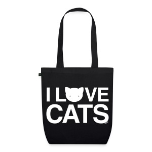 I Love Cats - EarthPositive Tote Bag