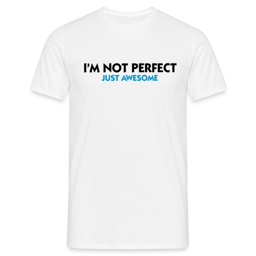Not perfect - Herre-T-shirt