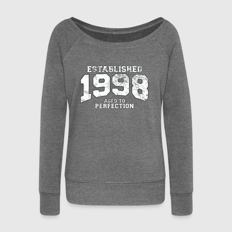 established 1998 - aged to perfection (fr) Sweat-shirts - Pull Femme col bateau de Bella