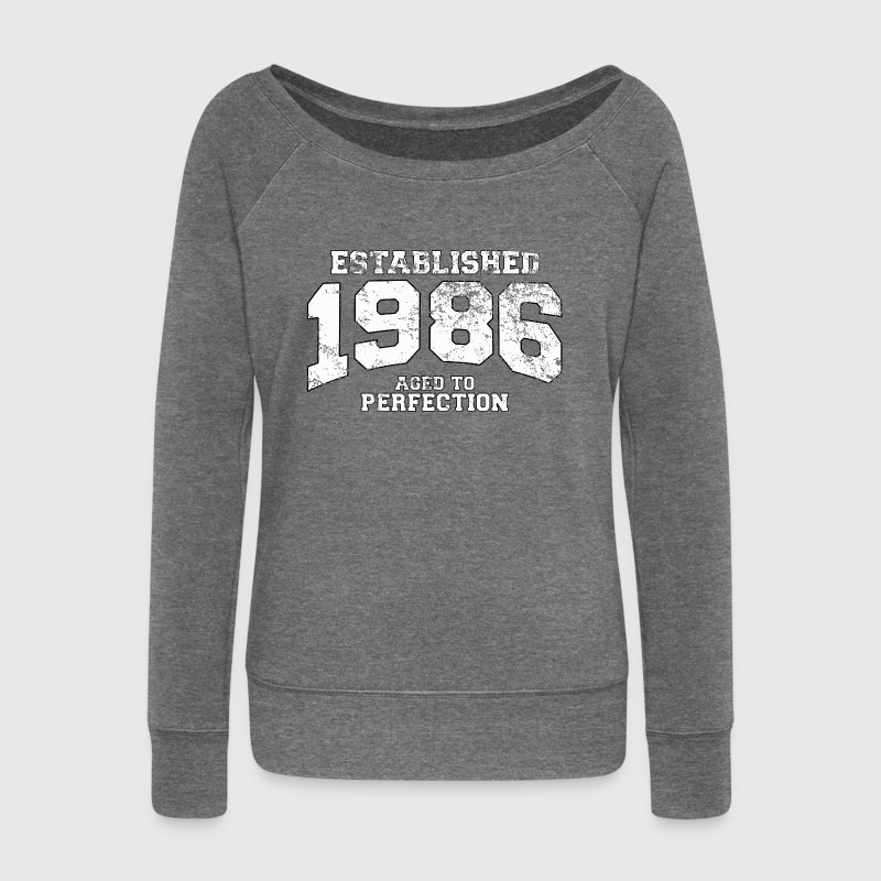 established 1986 - aged to perfection (fr) Sweat-shirts - Pull Femme col bateau de Bella