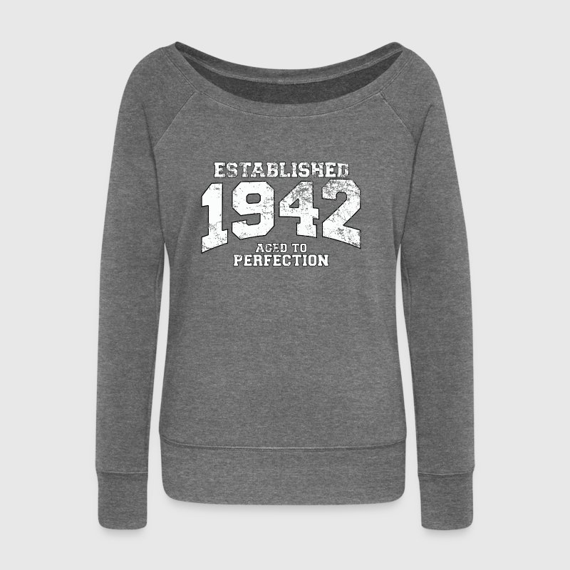 established 1942 - aged to perfection (fr) Sweat-shirts - Pull Femme col bateau de Bella
