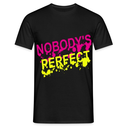 T shirt homme nobody's perfect - T-shirt Homme