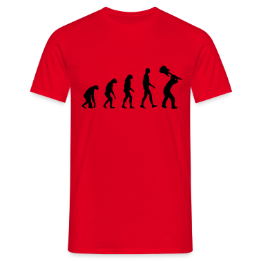 Evolution Rock - Musik T-shirt