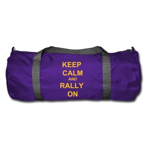 Keep Calm Holdall - Purple / Yellow - Duffel Bag